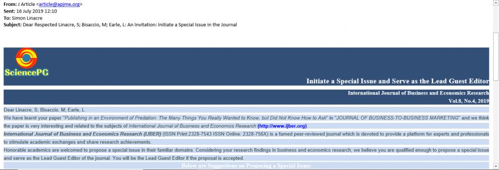 Journal Blacklist – The Source